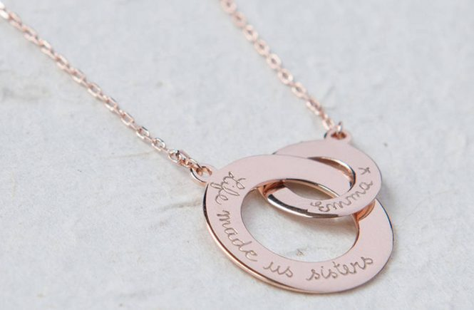 rose gold plated necklace